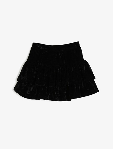 Koton Kids Fırfır Detaylı Etek Siyah